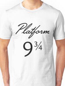 Harry Potter Platform 9 3/4 Text Unisex T-Shirt