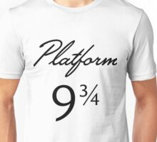 Harry Potter Platform 9 3/4 Text Unisex T-Shirt