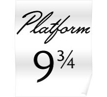 Harry Potter Platform 9 3/4 Text Poster