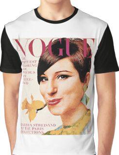 Barbra Streisand: Vintage Vogue Cover Graphic T-Shirt