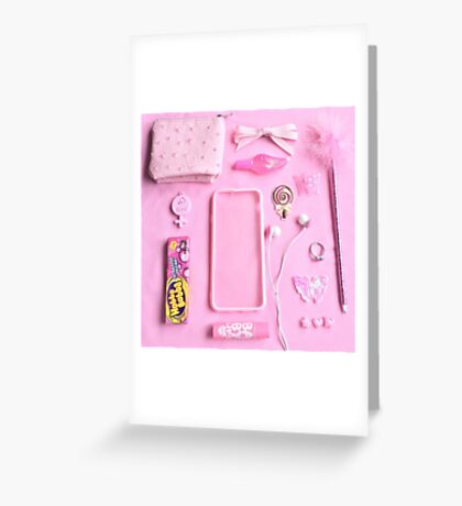 Pink Babygirl Essentials Greeting Card