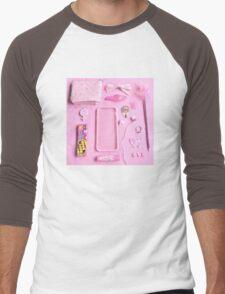 Pink Babygirl Essentials Men's Baseball ¾ T-Shirt