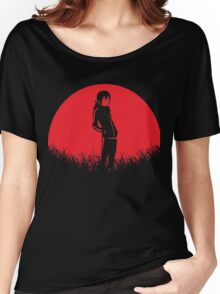 Yatogami Red Moon Noragami Women's Relaxed Fit T-Shirt