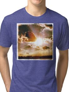 Sky Up above at the Pier no.2 Tri-blend T-Shirt