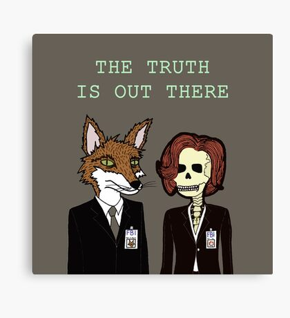 Mulder and Scully Canvas Print