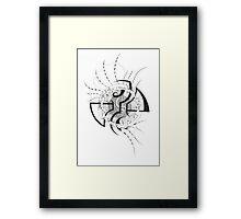 Dragon's fin Framed Print