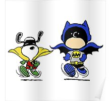 Superheroes Peanuts Poster