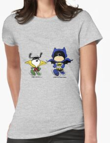 Superheroes Peanuts Womens Fitted T-Shirt