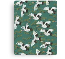 Japanese Crane Pattern Canvas Print