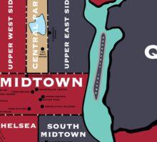 New York City Map Sticker