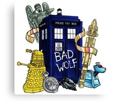 Bad Wolf Box Canvas Print