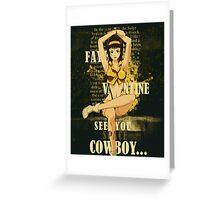 Cowboy Bebop Faye Valentine Greeting Card