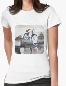 Paper Bicycle Womens Fitted T-Shirt