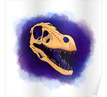velociraptor skull Poster