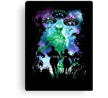 The X-Files Alien Invasion Canvas Print