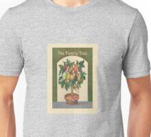 Family tree, velvet painting, tree, birds and fruit. Unisex T-Shirt