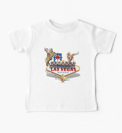 Las Vegas Welcome Sign Baby Tee