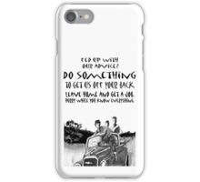 Teenager advice,lads in car behaving badly iPhone Case/Skin