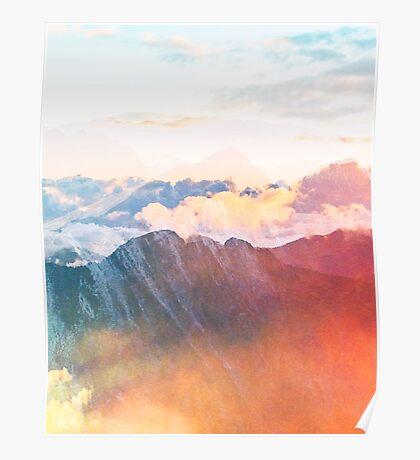 Mountain Glory #redbubble #lifestyle #tech Poster
