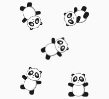 Pandas! Pandas! One Piece - Short Sleeve