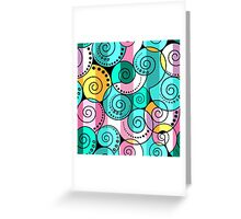 Abstract pattern in RETRO style Greeting Card