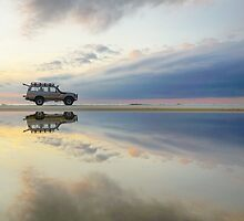Peak hour traffic on Moreton Island  by Keiran Lusk