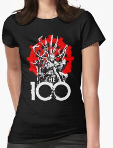 The 100 Lexa Symbol Womens Fitted T-Shirt