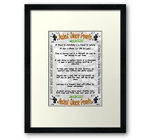 Ancient Chinese Proverbs Framed Print
