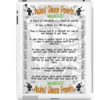 Ancient Chinese Proverbs iPad Case/Skin