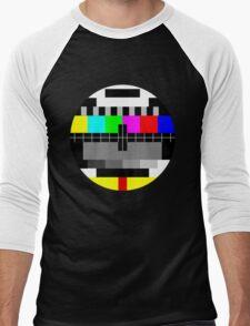 90's TV Test pattern Men's Baseball ¾ T-Shirt