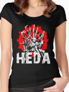 The 100 Lexa Symbol - Heda Women's Fitted Scoop T-Shirt