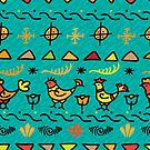 - Traditional pattern with birds 2 - by Losenko  Mila