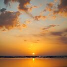 Golden sunset beach on Moreton Island  by Keiran Lusk