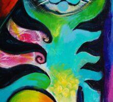 Kittycat 1 acrylics Sticker