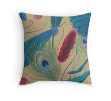 A Cascade of Feathers Throw Pillow