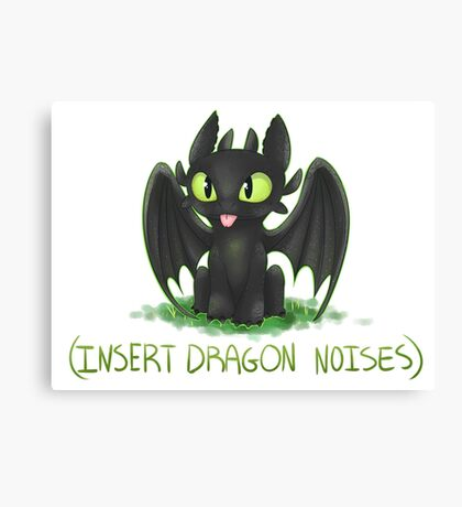 (Insert Dragon Noises) Canvas Print