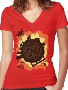 DK: Sunset Shore Women's Fitted V-Neck T-Shirt