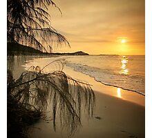 Sunset bliss on Moreton Island Photographic Print