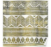 Gold Tribal Pattern Poster