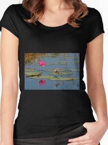 Comb-Crested Jacana on the South Alligator River, Kakadu National Park Women's Fitted Scoop T-Shirt