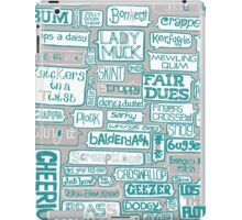 Britishisms Typography Print iPad Case/Skin