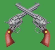 Crossed Pistols One Piece - Short Sleeve