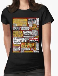Harry Potter Typography  Womens Fitted T-Shirt
