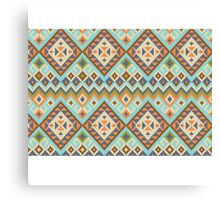 Tribal Blue Pixel Canvas Print