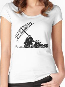 Americana - raising the Hills hoist Women's Fitted Scoop T-Shirt