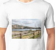 Mountain Lake on a Cloudy Day Unisex T-Shirt