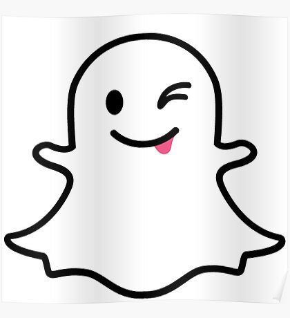 Snapchat Ghost Poster