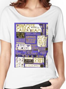 Queen Lyrics Typography Women's Relaxed Fit T-Shirt