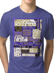 Queen Lyrics Typography Tri-blend T-Shirt