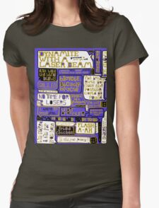 Queen Lyrics Typography Womens Fitted T-Shirt